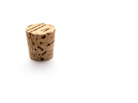 Cork standing on white background Stock Photo