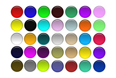 Round Aqua Buttons Stock Photo