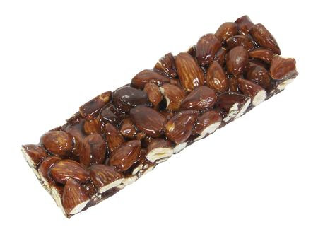 Almond brittle isolated over white
