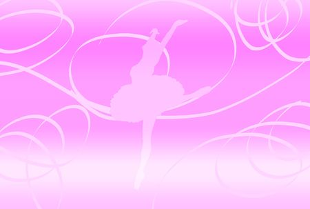 Silhouette of a dancing woman over abstract background