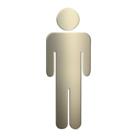 3d gold gentlemen symbol over white background photo