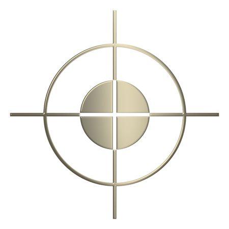 3d gold Sniper over white background