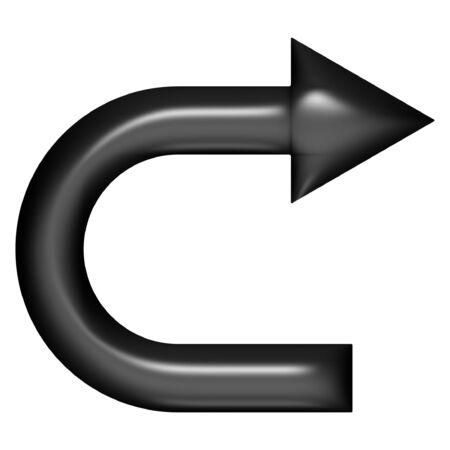flechas curvas: 3d globo negro cambio de sentido m�s de fondo blanco