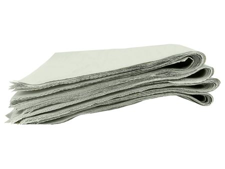 Stack of blank tabloids isolated over white  Stock Photo - 3621029