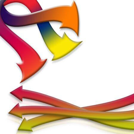 Flechas en diferentes colores con reflexiones sobre fondo blanco  Foto de archivo - 4005955