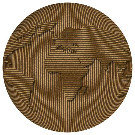 Word globe made of cardboard over white background Stock Photo - 4286879