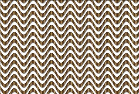 deformation: Optical background made of cardboard waves over white Stock Photo