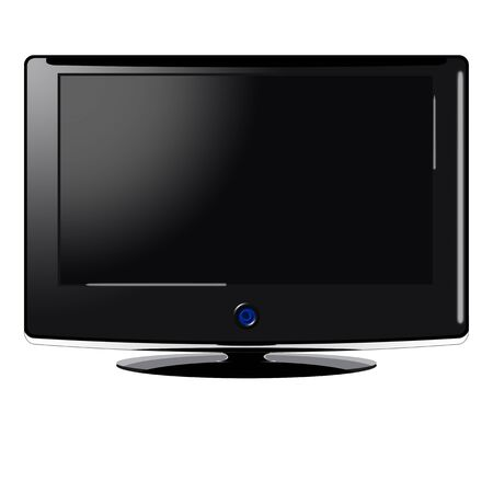 Illustration of a wide screen TV over white background