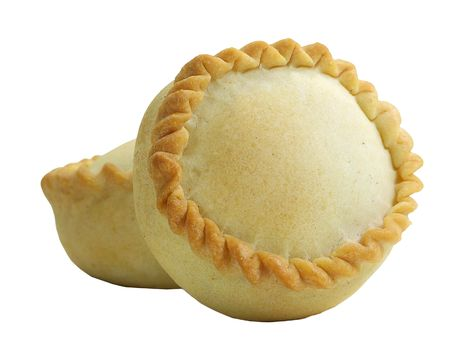 Panadas(delicatessen from Oschiri in Sardinia with meat inside) isolated over white
