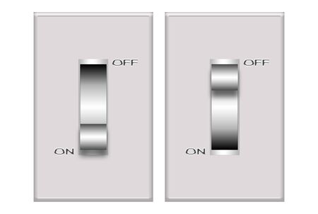 Illustration of a grey switch isolated over white background Stock Illustration - 5200031