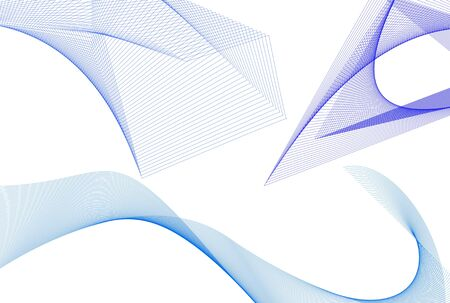 nuances: Blue abstract mesh in different nuances over white background