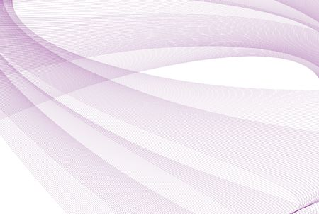 Abstract illustration with purple lines over white background