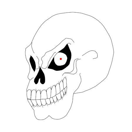 eye sockets: Illustration of a smiling skull