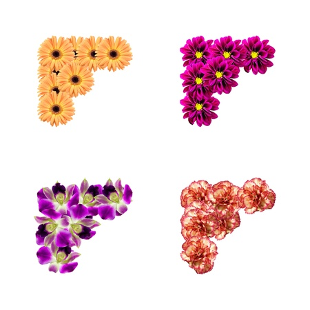 pics: corners made of flowers isolated over white background