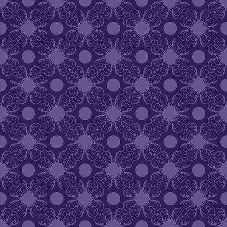 Seamless damask pattern with purple flower-like design over dark blue background photo