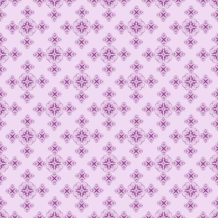 Damask seamless pattern with deep purple design on light purple photo