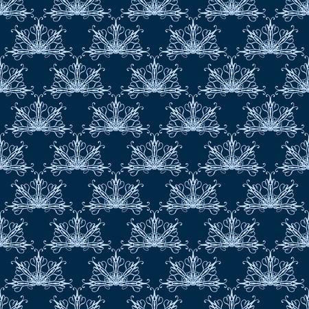 fan shaped: Damask seamless pattern with fan-shaped elements Stock Photo