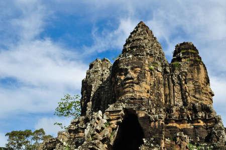 Bayon Temple at Angkor Siem Reap Cambodia Stock Photo