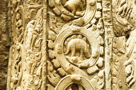 Dinosaur statue at Angkor Wat photo