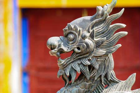 stone lion: Stone lion, vietnam Stock Photo