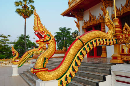 Thai dragon or king of Naga Stock Photo - 8340553