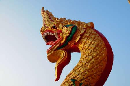 Thai dragon or king of Naga Stock Photo - 8340513