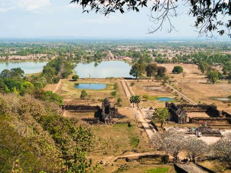 Wat Phu Monument at Champasak Lao Stock Photo