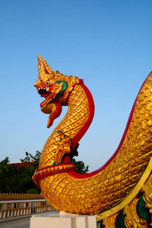 Thai dragon or king of Naga photo
