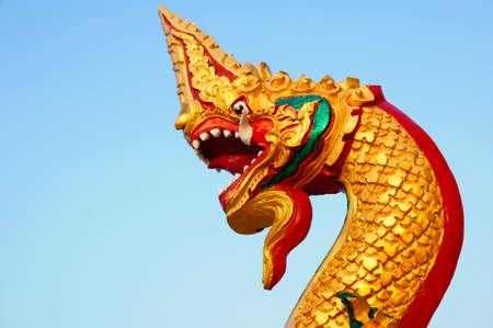 Thai dragon or king of Naga Stock Photo - 8340519