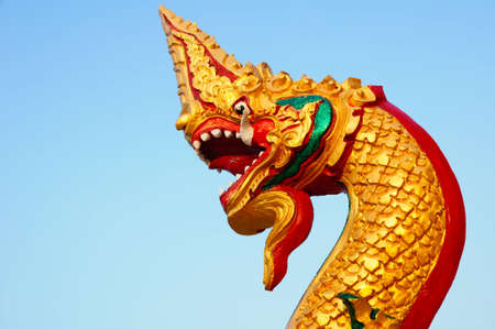 Thai dragon or king of Naga Stock Photo - 8340519