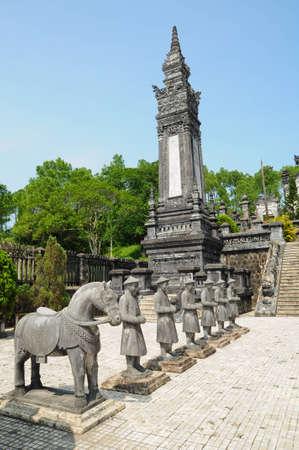 Traditional statue of Khai-Dinh (Vietnam)