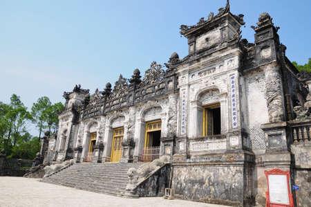 Tomba dell'imperatore Khai Dinh, Hue, Vietnam Archivio Fotografico
