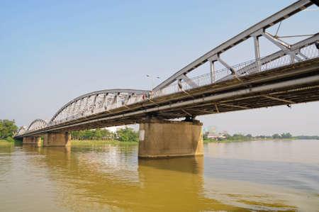 bridge over the river at vietnam photo