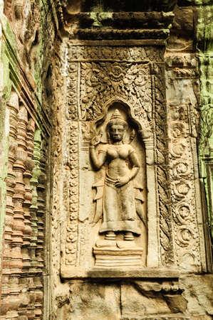 Statue at Angkor Wat, Cambodia photo