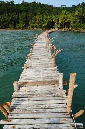 wooden bridge photo
