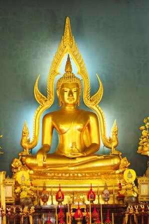 awakened: Buddha at  Wat Benjamobopith, Bangkok  Thailand