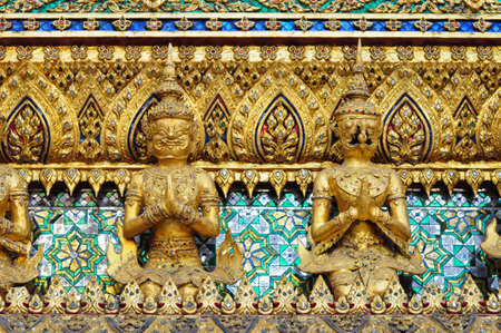 Thai traditional angle in Wat Phra Kaew Temple , bangkok Thailand photo