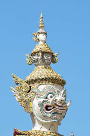 Statues, at the Wat pha Kaew temple, Bangkok, Thailand photo