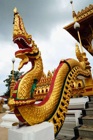naga statue at thai temple