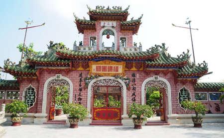 kelet ázsiai kultúra: Chinese Temple in Hoi an, Vietnam