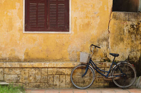 Bicycle and old house in Hoi an, Vietnam