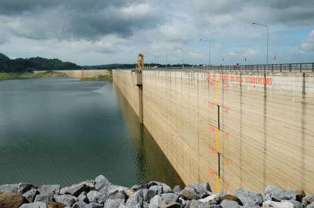 Khun Dan Prakan Chol Dam, Nakhon Nayok, Thailand Stock Photo