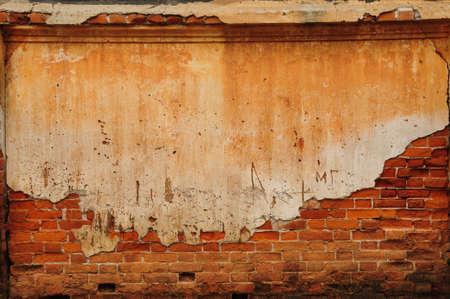 consistenza del vecchio muro di mattoni Archivio Fotografico