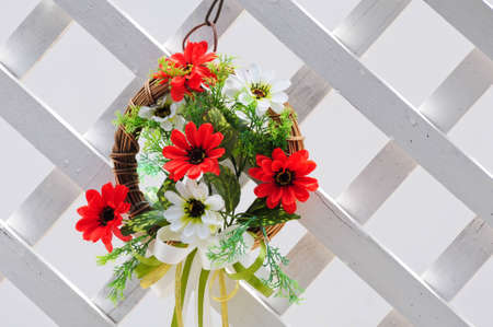 decorated flower at wall Stock Photo - 10191413