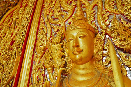 Angel decoration of buddhist temple in Thailand Stock Photo - 10383840