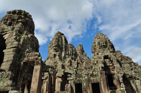 phrom: Ta Phrom ancient castle in the city of Angkor Wat in Siem Reap, Cambodia. Stock Photo