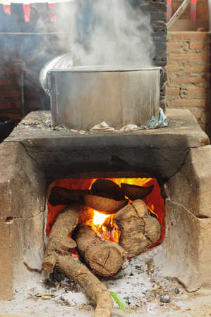 Stove for cooking food photo