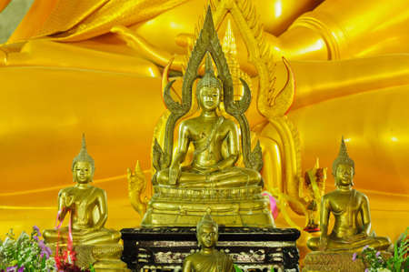 buddha statue at the temple photo