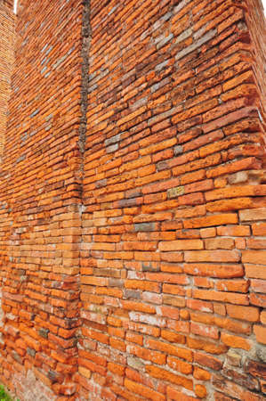 Brick Wall texture in Ruins Temple at Ayutthaya Historical Park, Thailand Stock Photo - 10718498