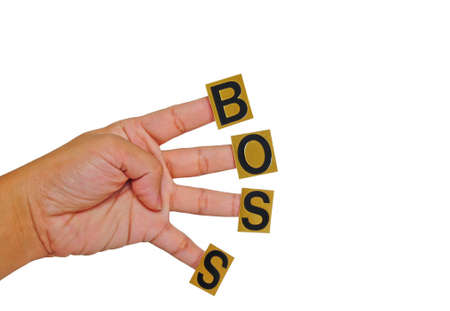 this hand, work hard for boss Stock Photo - 10837273